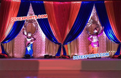 Punjabi Wedding Simple Backdrop Stage
