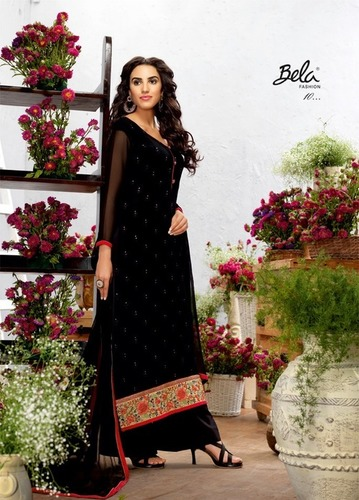 Beautiful Designer Georgette Plazzo Suit Online