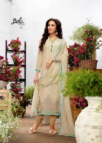 Buy Georgette with Crepe Silk Suit Online