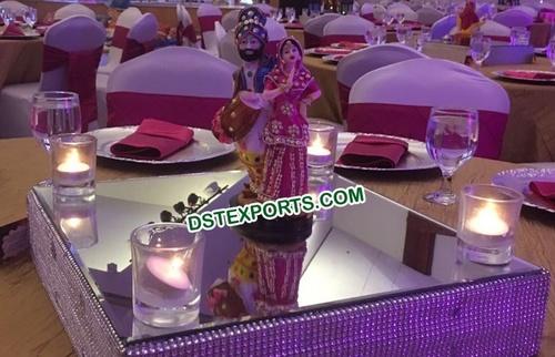 Decoration Punjabi Dancing Couple Statue