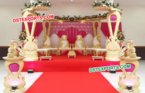 Indian Wedding Wooden HandCraft Swan Mandap