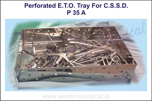 Perforated E.T.O. Tray for C.S.S.D.