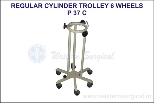 Regular Cylinder Trolley 6 Wheels