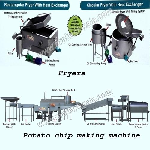 Fryers & Potato Chip making machine