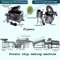 Fryers & Potato Chip making machine