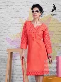 Printed Designer Cambric Cotton Kurti