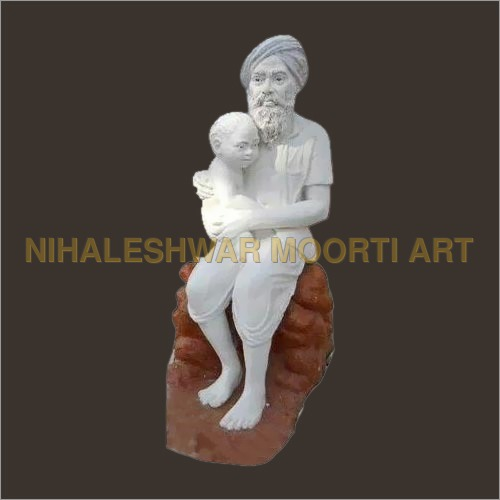 Decorative White Marble Statue