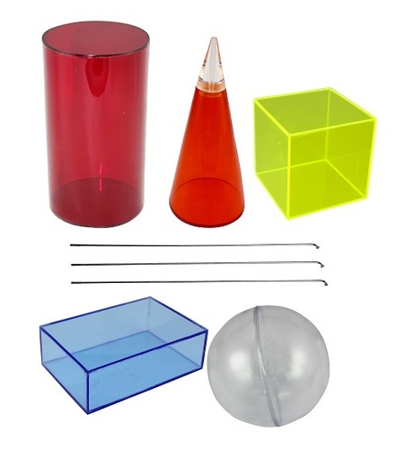 Transparent Acrylic Figures For Mathematics