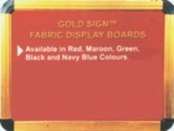 Goldsign Velvet Display Board
