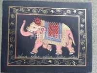 Elephant Painting On Clothe