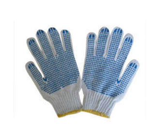 Machine knit Dotted Gloves