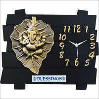 Leaf Ganesh Wall Clock