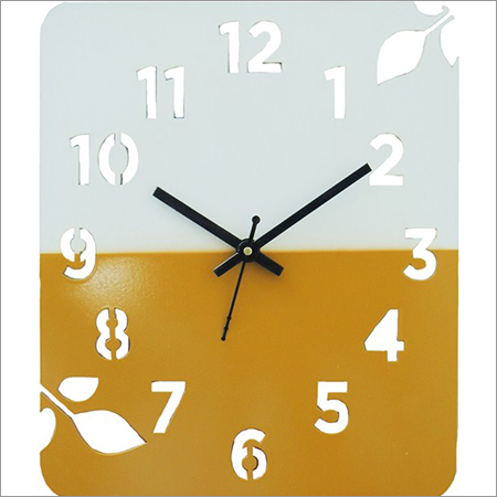 Parker Rectangle Brown Wall Clock