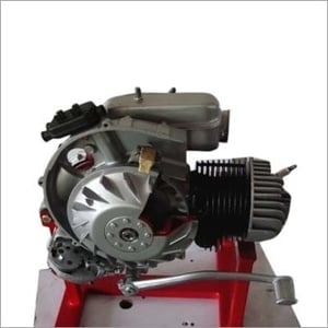 Cut Section Model Of Actual Single Cylinder Two Stroke Petrol Engine
