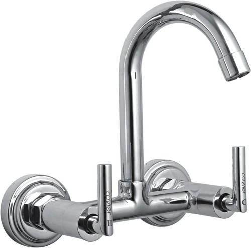 Wall Mounted Double Handle Sink Mixer