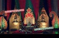 Wedding Paisley Jhrokha Panel Stage