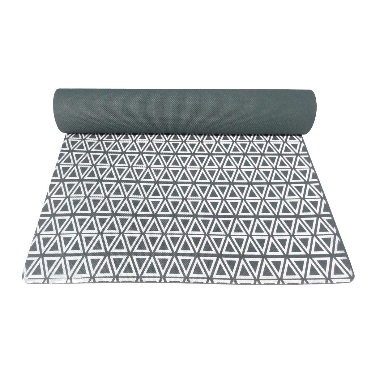 Triangle Print Yoga Mats