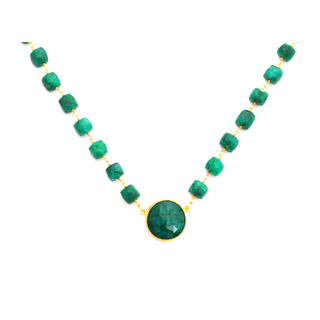 Dyed Emerald Necklace