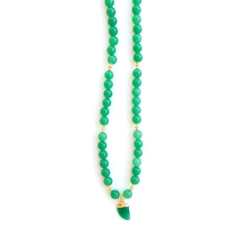 Green Onyx Party Wear Necklace