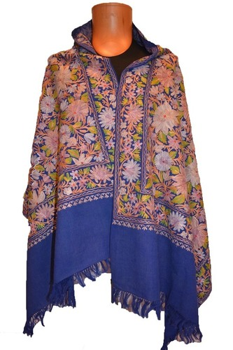 Woolen Hook Work Jamavar shawl