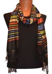 Viscose Dobby N Stripes Scarf
