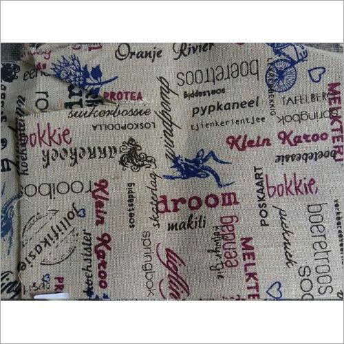 Printed Burlap Fabric