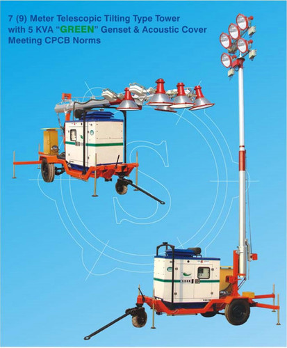 7 (9) Meter Mobile Telescopic Tilting Type Tower