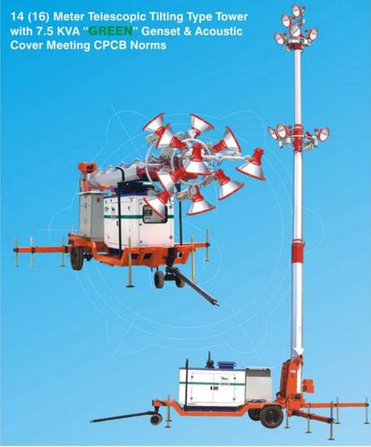 14 (16) Meter Mobile Telescopic Tilting Type Tower