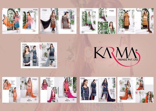 Straight Salwar Kameez (KARMA TRENDZ)