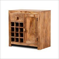 Mango Rough Natural Wine Cabinet Cutout