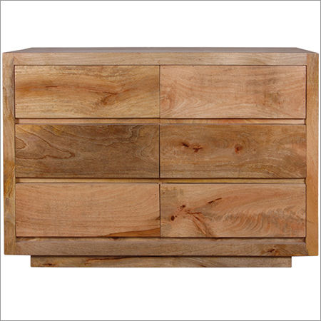 Indian Rough Mango Wood Drawer Chest