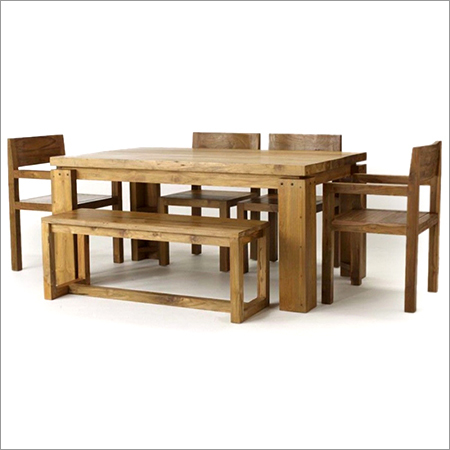 Mango Wood Dining Set Four Chairs And Bench Mango Wood Dining Set