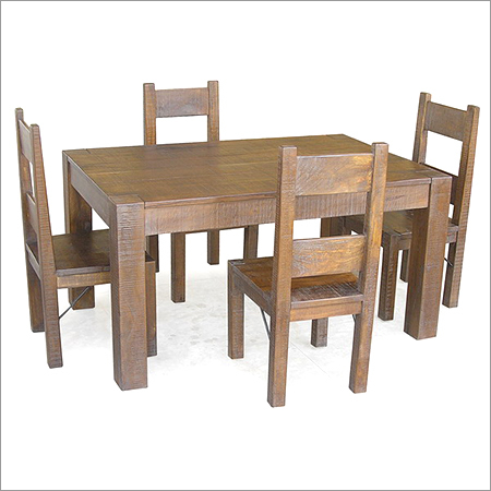 Mango Rustic Farm Dining Table Set With Chairs