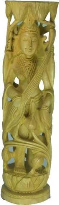 Beautiful Wooden God Statue