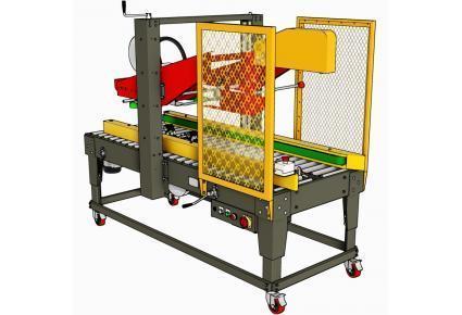 Automatic Flap Folding Taping Machine