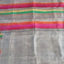 Ethnic Block Printed Saree (Pure Mulberry Silk)