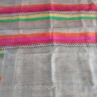 Ethnic Block Printed Saree (Pure Mulberry Silk)