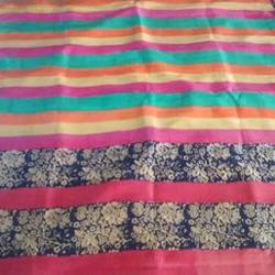 Ethnic Block Printed Saree(Pure Mulberry Silk)