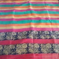 Ethnic Block Printed Saree(Pure Mulberry Silk)