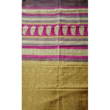 Indian Block Printed Saree (Pure Mulberry Silk)