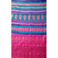 Designer Block Printed Saree(Pure Mulberry Silk)