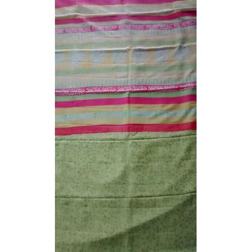 Custom Block Printed Saree (Pure Mulberry Silk)