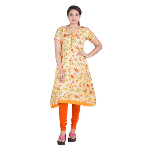 cotton A- Cut Kurti
