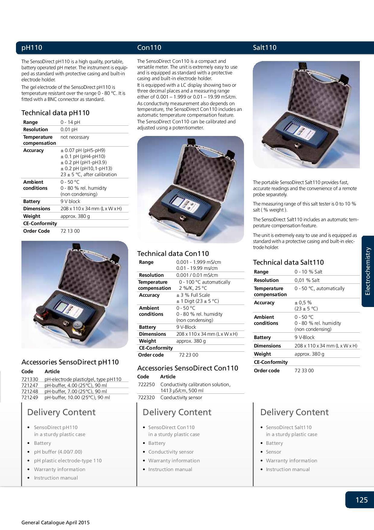 SensoDirect Tintometer 110 pH