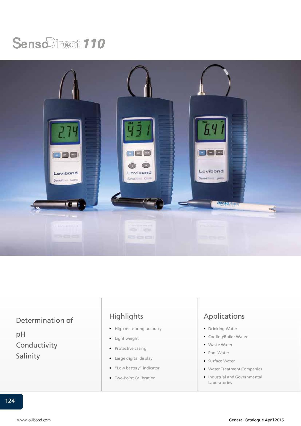 SensoDirect Tintometer 110 pH