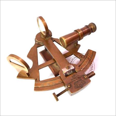 Nautical Antique Brass Sextant