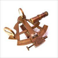 Nautical Antique Brass Sextant