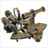 Antique Nautical Brass Sextant