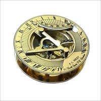 Nautical Brass Round Sundial Compass