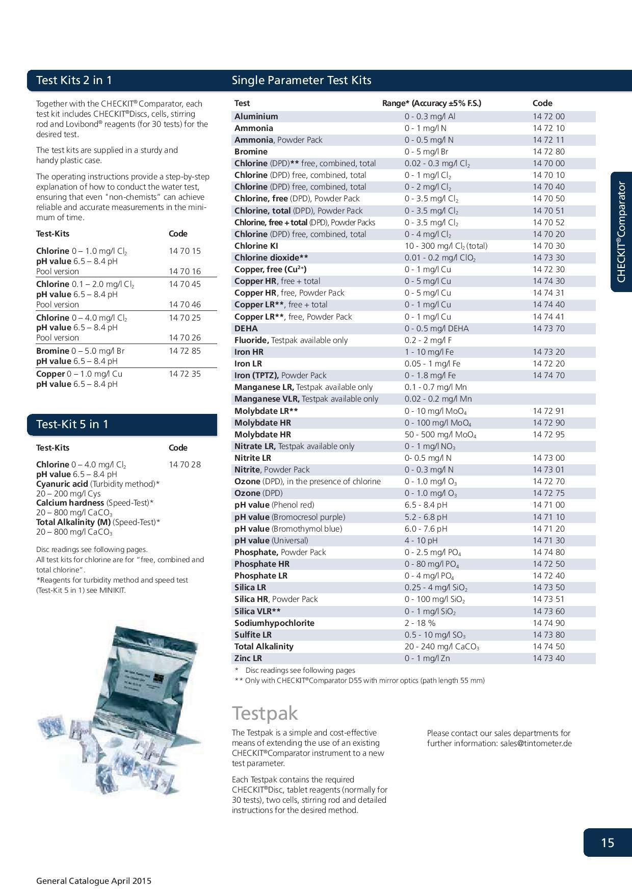 Lovibond Checkit Comparator
